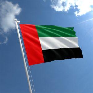 UAE flag waving